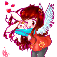 Art Trade with Heart4Skies by sweetnesskingdom