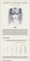 3 Easy Steps to Draw Hair by AndreLuizBarbosa