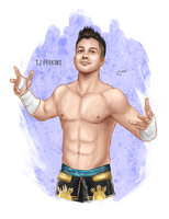 WWE TJ Perkins by baguettepang