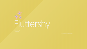 Fluttershy | Windows 8 by AdrianImpalaMata