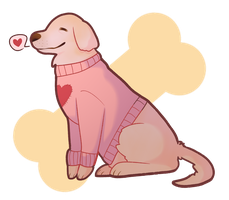 Senior pupper In a turtleneck sweater  by rohanoji