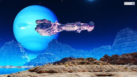 The new satellite of the planet Neptune by FOTOMASTER03