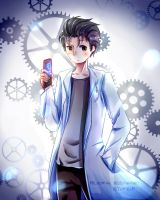 {steins gate} okabe rintarou by Paluumin