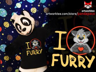 I (love) Furry (T-shirt design) by pandapaco