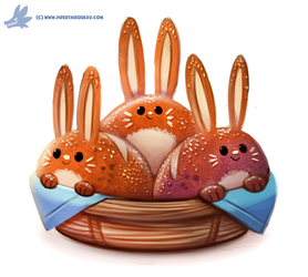 Daily Paint #1132. Bun'nies by Cryptid-Creations