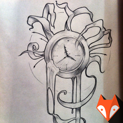 Mechanical watches, freehand drawing by kvartalist