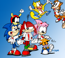 Sonic and Friends- Shirtly You Jest by spongefox