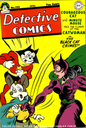 Courageous Cat and Minute Mouse versus Catwoman by Tulio-Vilela