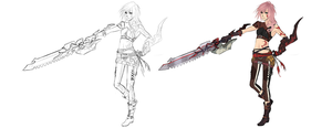 FFXIII LR - Demon veins slayer by dNiseb