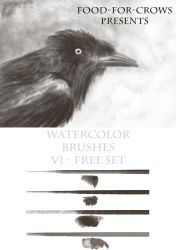 Watercolour Brushset 2015 Free by Food-For-Crows