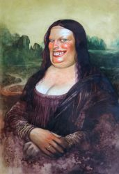 Fat Mona Lisa by Boban-Savic-Geto
