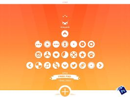 Circular Icons - Free PSD by alpercakici