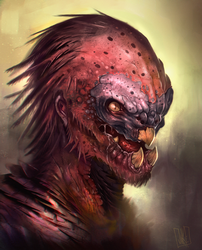 Alien Bird Creature by JakkeV