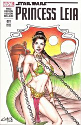 SLAVE LEIA, BLANK COVER COMMISSION !!! by carlosbragaART80
