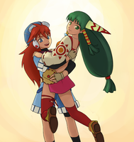 Justin and Feena, GRANDIA by lolomalon