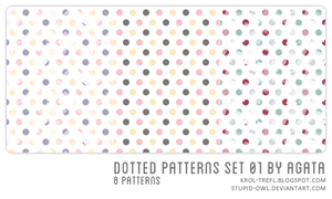 Dotted patterns set 01 by stupid-owl