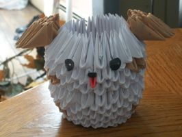 3D Origami Puppy by Rescue-Is-Possible