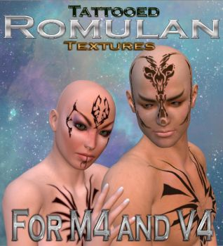 Romulan Tattoo Textures for M4 and V4 by mylochka