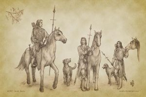 A Hunting Party of Princes by aautio