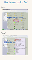 How to Open conf in SAI by chatenoir
