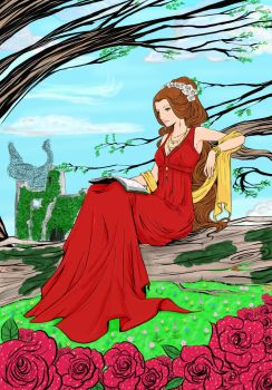 Scarlett-Aimpyh coloring contest How I see my mate by IllyDragonfly