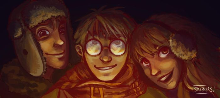 The Golden Trio by skephers