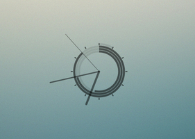 Minimal Conky Clock by 1inux