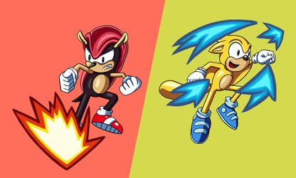 Sonic Mania Plus Mighty and Ray by elementhedgehog