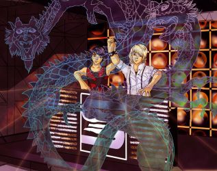 Double Dragon by Demoncherry
