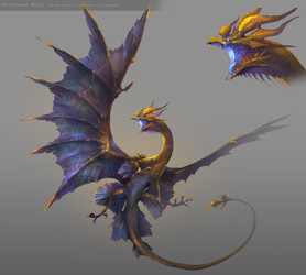 Gold Dragon (rev) by ChristopherOnciu