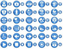 Blue Medical Icons by Ikonod