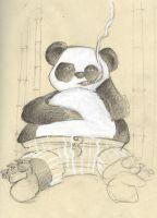 Bad Tempered Panda by sugarcub