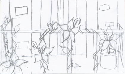 Balcony Flowers-lines by Infinity1028
