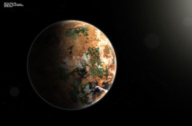 Planet Delta Aquilae 2 by StalinDC