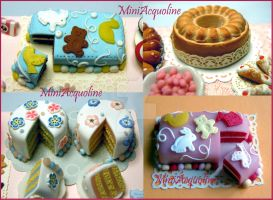 Miniature baby cakes by miniacquoline