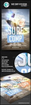 Surf Comp Flyer Design by sirjeffoakley