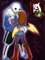 firts dance (sans x frisk) the song of an angel by lady-heart235