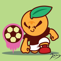 Orange Kid Plays Soccer by OrngeJuice