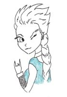 Punk Elsa by killhawkeye