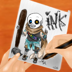 Dibujo de Ink Sans (AU de undertale) by Miel-ART