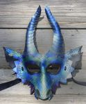Obsidian Dragon Leather Mask by SilverCicada