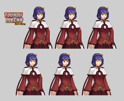 Kanako Spritesheet by GraphyteRonin