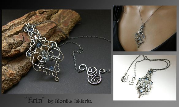 Erin- wire wrapped pendant by mea00