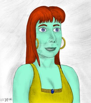 Realistic genie Martha in colour by hippo2