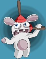 Raving Rabbid by gagaman92