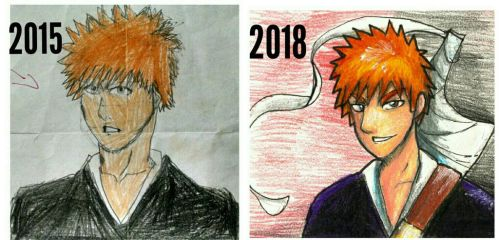A Redraw of my First Anime Drawing by SmartyArtsy1