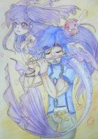 The Chinese Flutist and Japanese Mermaid Princess by Charming-Manatee