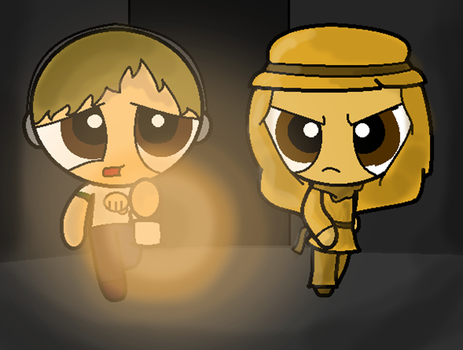 Puffed Pewdiepie and Stephano by Gameaddict1234