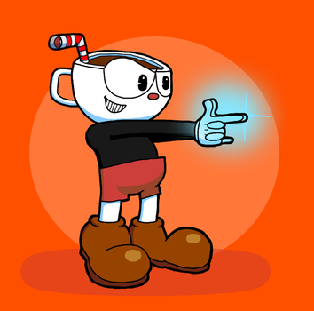 Cuphead ready to shoot! by KaiXtr
