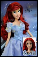 repainted ooak ariel doll. - ready for the ball. by verirrtesIrrlicht